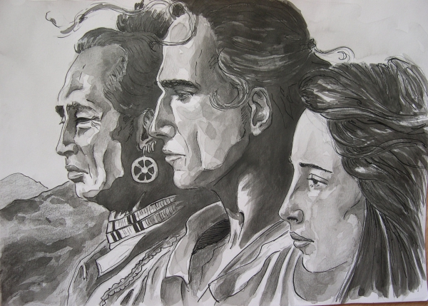 Madeleine Stowe, Daniel Day-Lewis, Russell Means by Garance55